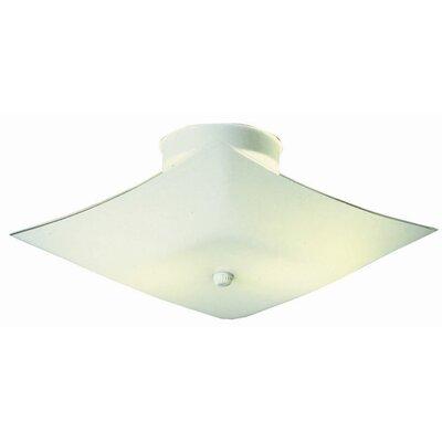 2-Light  Flush Mount Size: 5.8 H x 11.2 W x 11.2 D