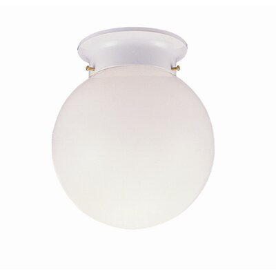 1-Light  Flush Mount  with Opal Glass