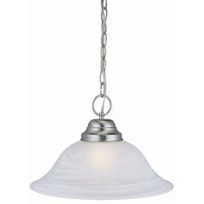 Millbridge 1-Light Pendant Finish: Satin Nickel