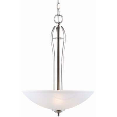 Trevie 2-Light Inverted Pendant Finish / Glass Color: Satin Nickel / Alabaster