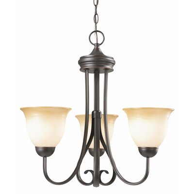Cameron 3-Light Shaded Chandelier