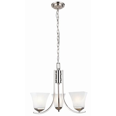 Bendigo 3-Light Shaded Chandelier