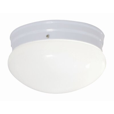 26W 1-Light Flush Mount Finish: White