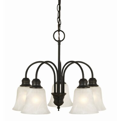 Ridgeway 5-Light Shaded Chandelier Finish: Oil Rubbed Bronze