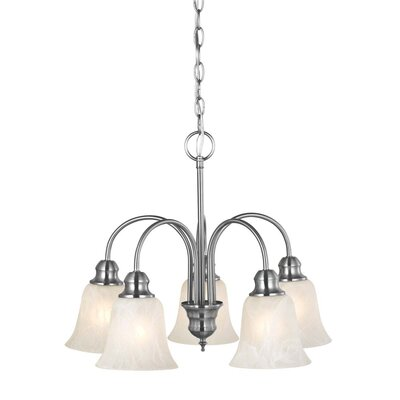 Ridgeway 5-Light Shaded Chandelier Finish: Satin Nickel