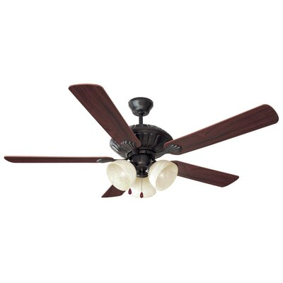 52 Trevie 5-Blade Ceiling Fan Finish: Oil Rubbed Bronze with Mahogany/Oak Blade