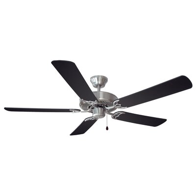 52 Millbridge 5-Blade Ceiling Fan Finish: Satin Nickel with Black Blade