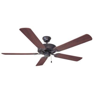 52 Millbridge 5-Blade Ceiling Fan Finish: Oil Rubbed Bronze with Dark Mahagony / Maple Blade