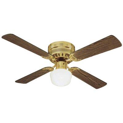 42 Millbridge 4-Blade Ceiling Fan Finish: Polished Brass with Medium Oak Or Walnut Blade