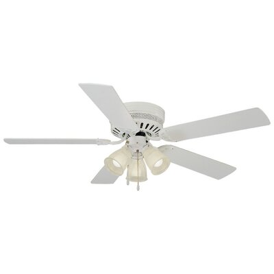 52 Millbridge 5-Blade Ceiling Fan Finish: Bleached Oak/White Blades