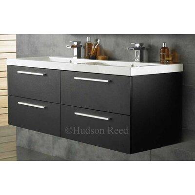 Hudson Reed Black Wood Quartet Basin and Cabinet