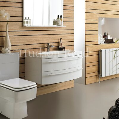 Hudson Reed Vanguard Basin and Cabinet in White
