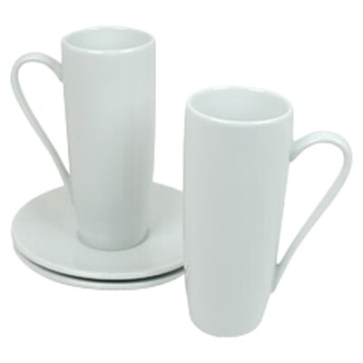 Konitz Coffee Bar 8 oz. Latte Macchiato Cup and Saucer 1750050001
