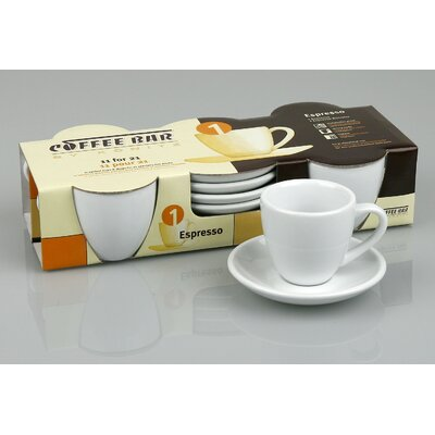 Konitz Coffee Bar Espresso Cup and Saucer (Set of 4)