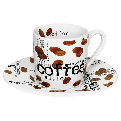 Konitz Coffee Shop Espresso Coffee Collage Cup and Saucer