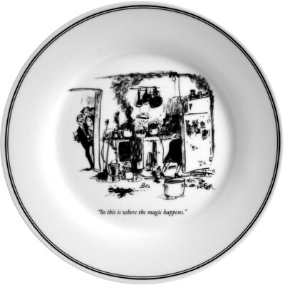The New Yorker Magic Happens Plate