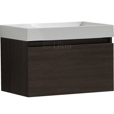 Ultra Zone Bathroom Basin and Cabinet in Oak