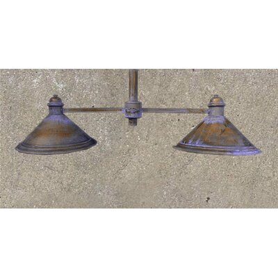 2-Light Kitchen Island Pendant Finish: Antique Green