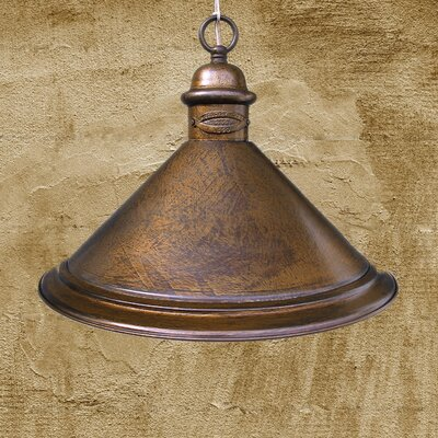 Allport 1-Light Metal Foyer Pendant Finish: Earth