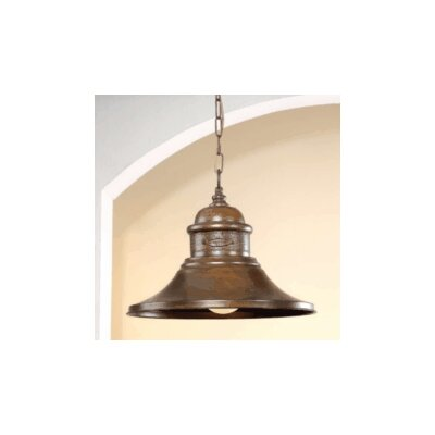 Rustik American Coop 1-Light Foyer Pendant Finish: Earth