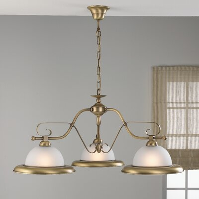 Rustik 3-Light Shaded Chandelier Finish: Antique Green
