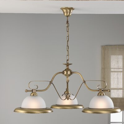 Rustik Rustik 3-Light Shaded Chandelier Finish: Antique Green