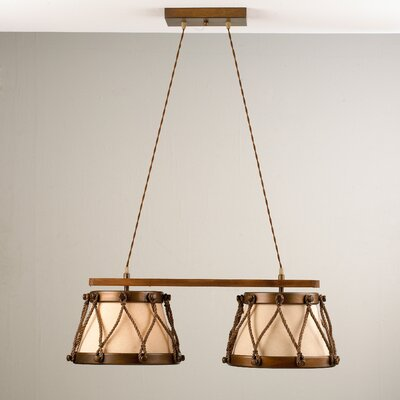 Rustik Tambor 2-Light Kitchen Island Pendant Finish: Earth
