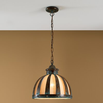 Rustik Armada 1-Light Pendant Size: 13.5 H x 13.75 W x 13.75 D, Finish: Earth
