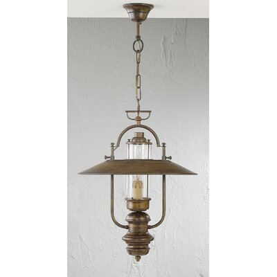 Rustik Candeia 1-Light Pendant Finish: Antique Green, Glass Color: Clear