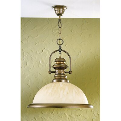 Rustik Marble 1-Light Pendant Finish: Antique Brass Mat, Glass Color: Acid