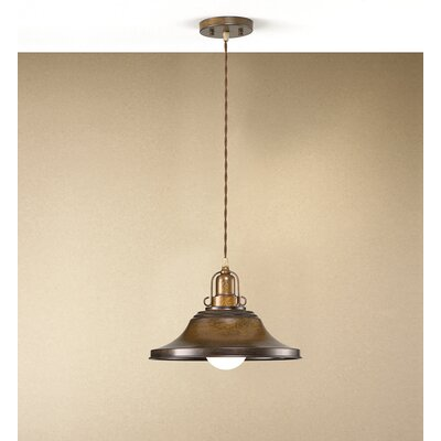 Rustik Charleston 1-Light Mini Pendant Finish: Antique Green