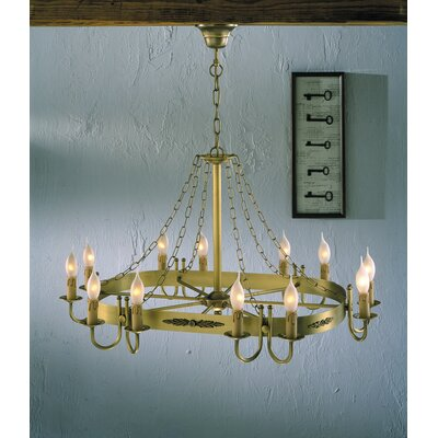 Rustik Medieval 12-Light Candle-Style Chandelier Finish: Antique Brass Mat