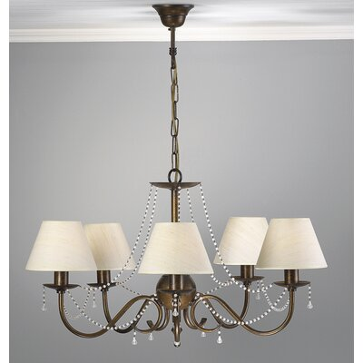 Classic Missangas 5-Light Shaded Chandelier Finish: Earth