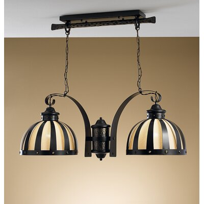 Rustik Armada 2-Light Kitchen Island Pendant Finish: Antique