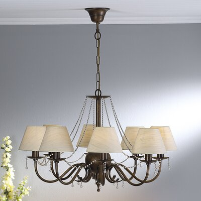 Classic Missangas 8-Light Shaded Chandelier Finish: Antique Green