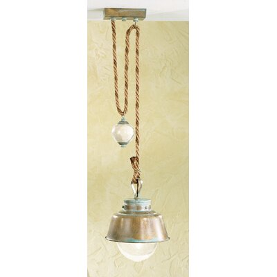 Nautic Amarras 1-Light Mini Pendant Finish: Antique Green