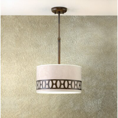 Modern Oval 1-Light Drum Pendant Finish: Earth
