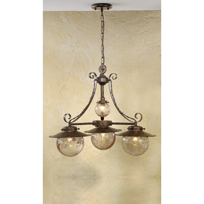 Rustik Aranha 4-Light Shaded Chandelier Finish: Antique Green