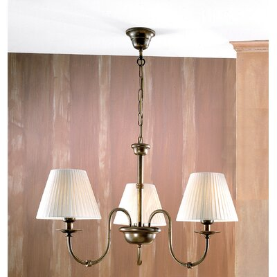 Classic Obidos 3-Light Shaded Chandelier Finish: Antique Brass Mat