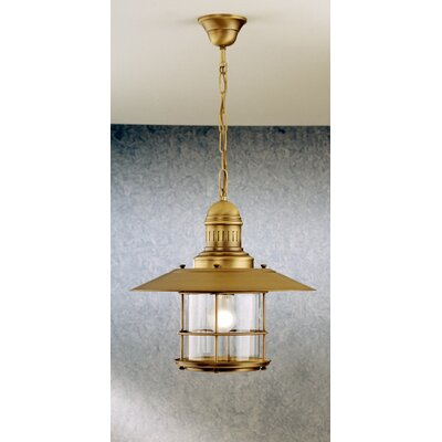 Nautic Ancora 1-Light Pendant Finish: Brushed Nickel, Glass Color: Clear