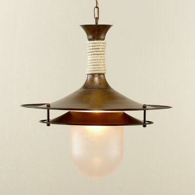 Rustik Cordas 1-Light Pendant Finish: Antique Green, Size: 15.75 W