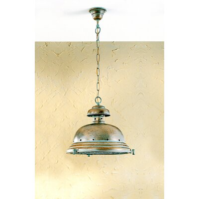 Nautic Escotilha 1-Light Pendant Finish: Antique Green