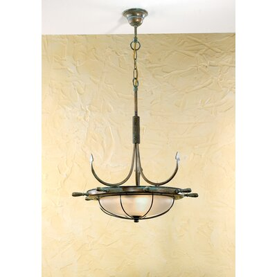 Nautic Leme 2-Light Inverted Pendant Finish: Antique Brass Mat