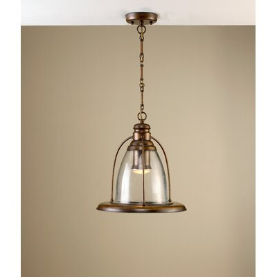 Rustik Sino 1-Light Mini Pendant Finish: Antique Green