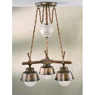 Nautic Amarras Three Light Chandelier