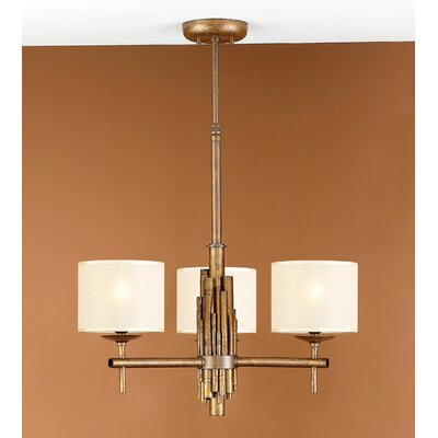 Rustik Bambu 3-Light Drum Chandelier Finish: Earth