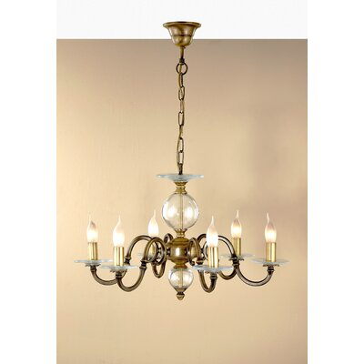 Classic Etrusca 6-Light Candle-Style Chandelier Finish: Earth