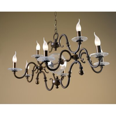 Classic Etrusca 8-Light Candle-Style Chandelier Finish: Antique Green