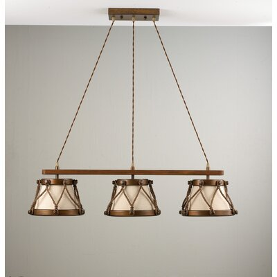 Rustik Tambor Three Light Chandelier