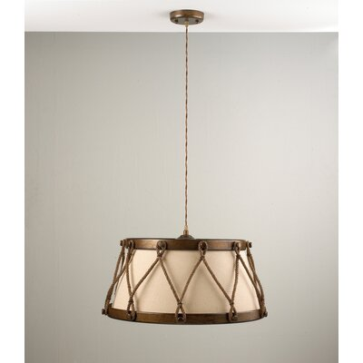 Rustik Tambor 4-Light Drum Pendant Finish: Earth